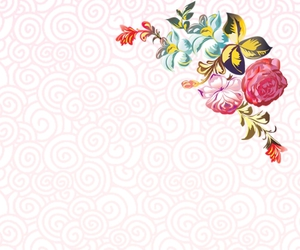 background, flores, and patrones image