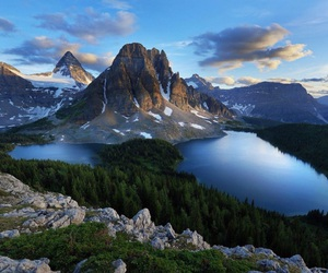 nature, sky, and mountains image