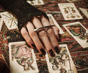 cards, fantasy, and hand image