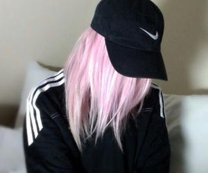 nike, hair, and pink image