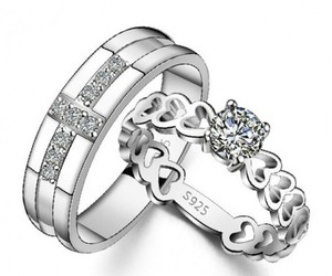 silver rings and lovers rings image