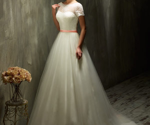bridal gown, fashion, and bride image
