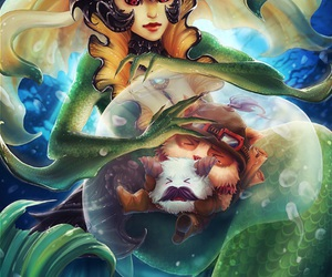 teemo, nami, and poro image
