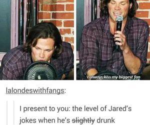 supernatural, jared padalecki, and drunk image