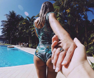 couple, summer, and beautiful image