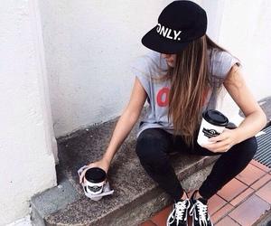 girl, vans, and skate image