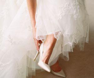 shoes, wedding, and bridal image
