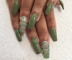nails, money, and green image