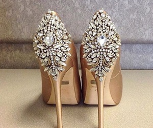 shoes, heels, and diamond image