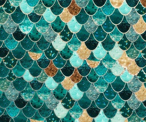 mermaid, scales, and wallpaper image