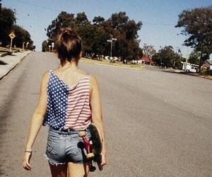 girl, skate, and usa image