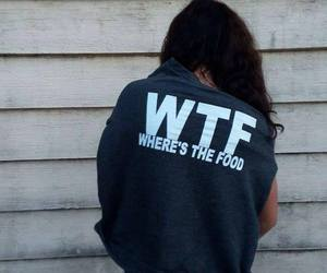 food, girl, and wtf image