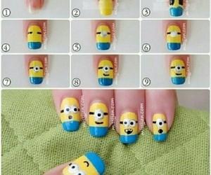 nails, minions, and diy image
