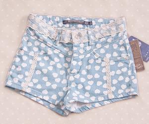fashion, shorts, and blue image