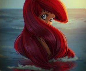 ariel, disney, and mermaid image