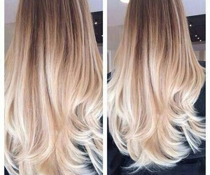 blonde, beautiful, and ombre image