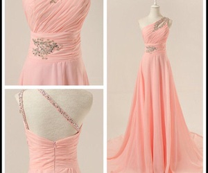 dress, prom dresses, and pink image