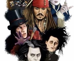 jack sparrow, johnny depp, and Willy Wonka image