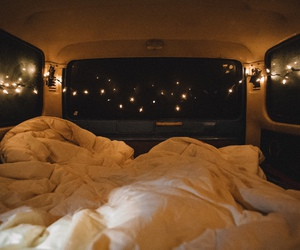 light, bed, and car image