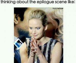 Epilogue, Jennifer Lawrence, and hunger games image