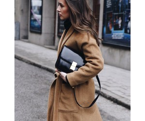 bag, coat, and camel image