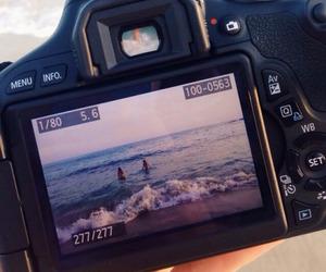 camera, beach, and summer image