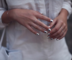 nails, silver, and fashion image