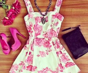 dress, pink, and girls image