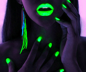 neon, nails, and lips image