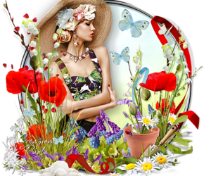 colors, flowers, and graphic image
