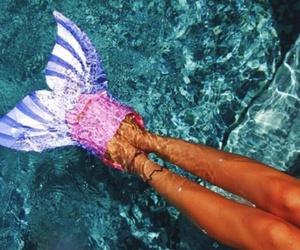 summer, mermaid, and water image