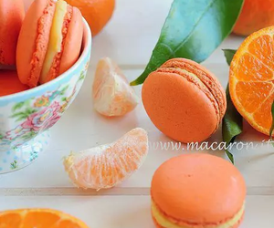 macaroons, orange, and food image
