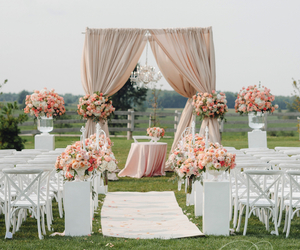 outdoor, reception, and wedding image
