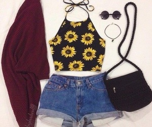 outfit, fashion, and shorts image