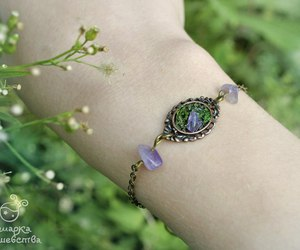 amethyst, forest, and лес image