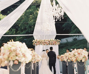 ceremony, outdoor, and wedding image