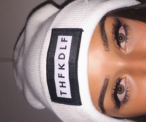 eyes, girl, and beanie image