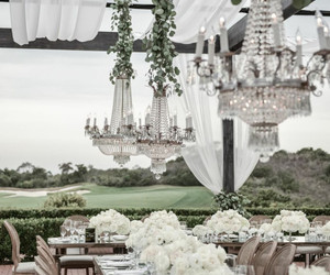 chandeliers, crystal, and glam image