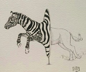 art and zebra image