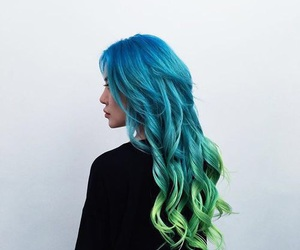 dyed hair and blue hair image