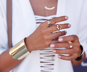bracelet, jewelry, and rings image