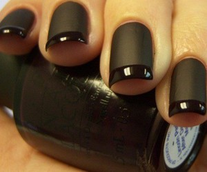 amazing, black on black, and nail polish image