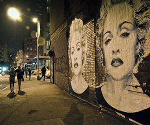 madonna, street, and art image