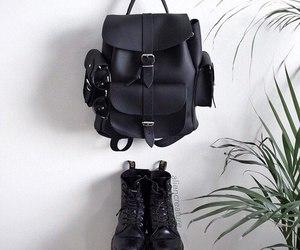 grunge, black, and bag image
