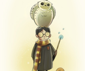 harry potter, owl, and hedwig image