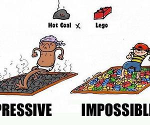 lego, impossible, and funny image