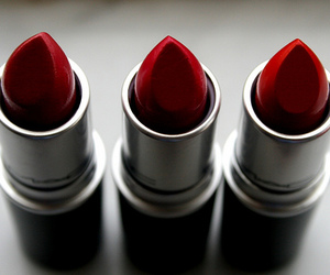 lipstick, red, and mac image
