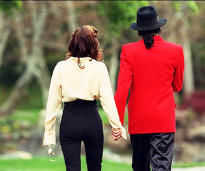 michael jackson, lisa marie presley, and love image