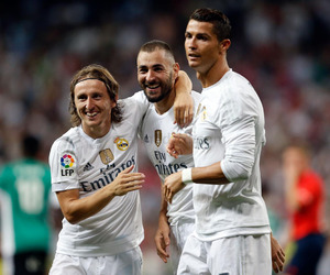 cristiano ronaldo, real madrid, and karim benzema image