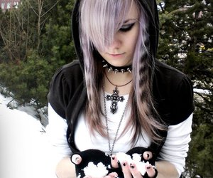beautiful, girl, and gothic image